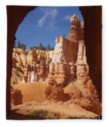 Tunnel In Bryce Fleece Blanket