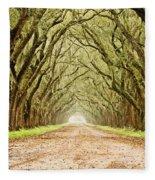 Tunnel In The Trees Fleece Blanket
