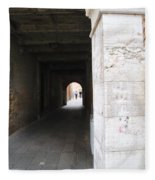Tunnel In Venice Fleece Blanket