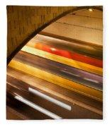 Tunnel Light Trails Fleece Blanket
