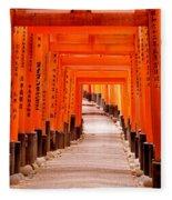 Tunnel Of Torii Gates, Fushimi Inari Fleece Blanket