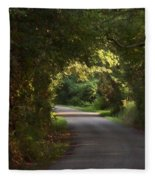 Tunnel Of Trees And Light Fleece Blanket