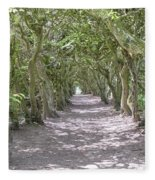 Tunnel Of Trees Fleece Blanket