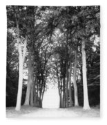 Tunnel Of Trees Fleece Blanket