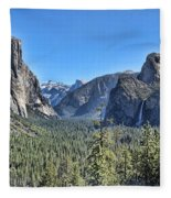 Tunnel View At Yosemite Fleece Blanket