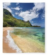 Tunnels Beach Bali Hai Point Fleece Blanket