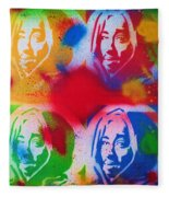 Tupac V Warhol Fleece Blanket