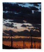 Turbine Sunset Fleece Blanket