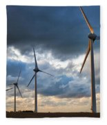 Turbines Fleece Blanket