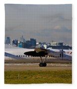 Turboprop Aircraft Fleece Blanket