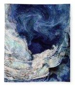 Turbulent Sea Fleece Blanket