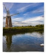 Turf Fen Drainage Mill Fleece Blanket