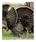 Turkey Butt Strut Fleece Blanket