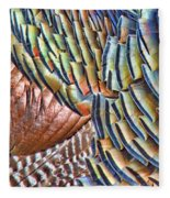 Turkey Feather Colors Fleece Blanket
