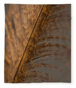 Turkey Feather Fleece Blanket