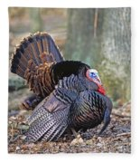Turkey Gobbler Strut Fleece Blanket