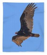 Turkey Vulture Soaring Overhead Drb153 Fleece Blanket