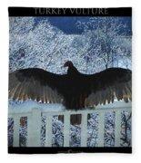 Turkey Vulture Sunning Fleece Blanket