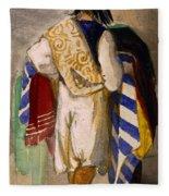 Turkish Carpet Seller, 1841 Fleece Blanket