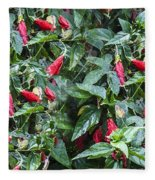 Turks Cap And Rain Drops Fleece Blanket