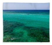 Turks Turquoise Fleece Blanket