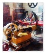 Turn Of The Century Machine Shop Fleece Blanket