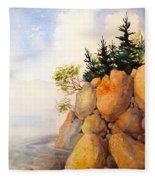 Turnagain Rocks Fleece Blanket