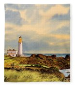 Turnberry Golf Course 9th Tee Fleece Blanket