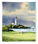 Turnberry Golf Course Scotland 10th Green Fleece Blanket