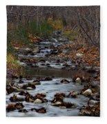 Turner Falls Stream Fleece Blanket