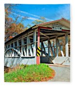 Turner's Covered Bridge Fleece Blanket