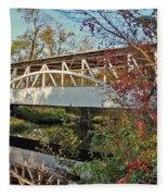 Turner's Covered Bridge Fleece Blanket