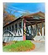 Turner's Covered Bridge Vignette Fleece Blanket