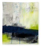 Turning Point - Contemporary Abstract Painting Fleece Blanket