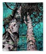 Turquois Trees  Fleece Blanket