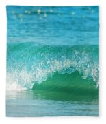 Turquois Waves  Fleece Blanket