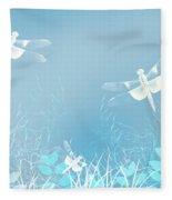 Turquoise Dragonfly Art Fleece Blanket