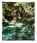 Turquoise Forest Pond On A Summer Day No1 Fleece Blanket