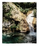Turquoise Forest Pond On A Summer Day No2 Fleece Blanket