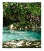 Turquoise Forest Pond On A Summer Day No3 Fleece Blanket