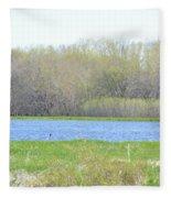 Turquoise Marsh Fleece Blanket