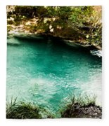 Turquoise River Waterfall And Pond Fleece Blanket