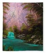 Turquoise Waterfall Fleece Blanket