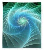 Turquoise Web Fleece Blanket