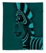 Turquoise Zebra Fleece Blanket