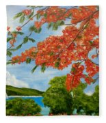 Turtle Bay Virgen Islands Fleece Blanket