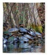 Turtle Landing Fleece Blanket