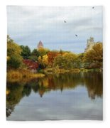 Turtle Pond - Central Park - Nyc Fleece Blanket