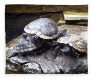 Turtle Rant Fleece Blanket