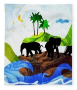 Turtles All The Way Down Fleece Blanket